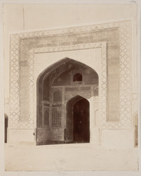 Tatta, Karachi District, Sindh. Jami Masjid, central bay of façade